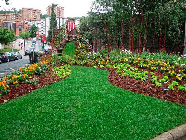 huerto urbano en jardin
