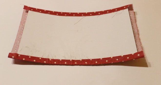 tela pegada a carton bolso