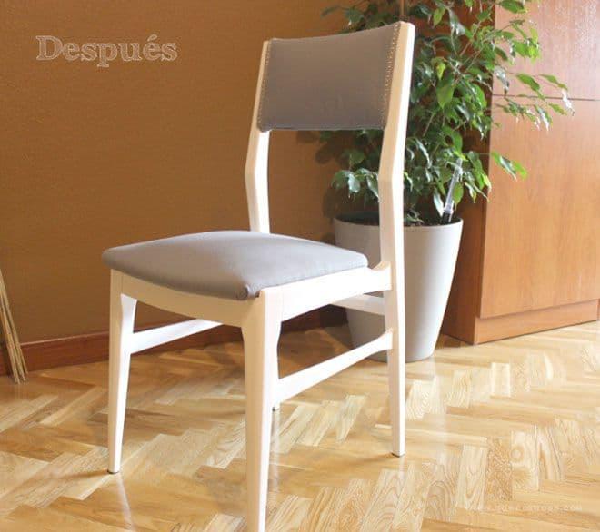 el despues de silla restaurada