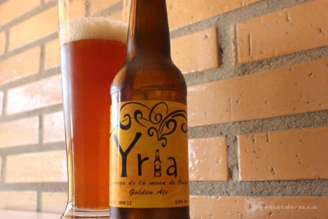 cerveza artesanal yria golden ale