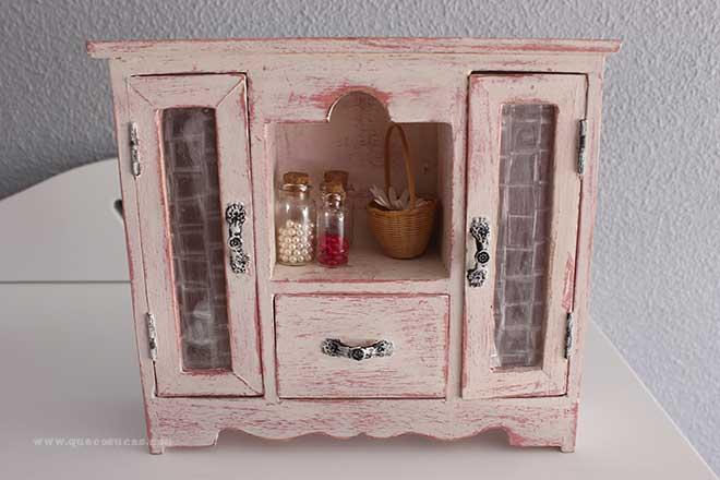 Decapado armario de madera decorado con pintura efecto - Muebles decorados a mano ...