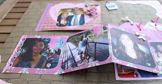 fotos cuadro scrap para amiga