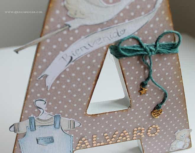 Letra A Decorada Para Un Bebe