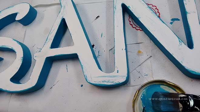 colorear letras madera