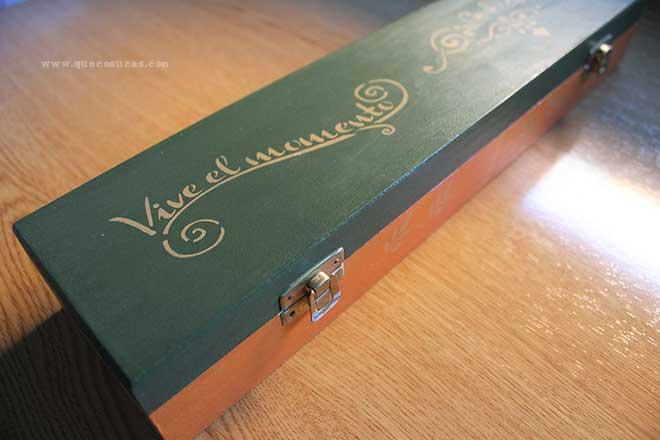 caja madera decorada