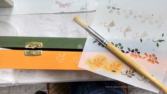 madera stencil plantillas