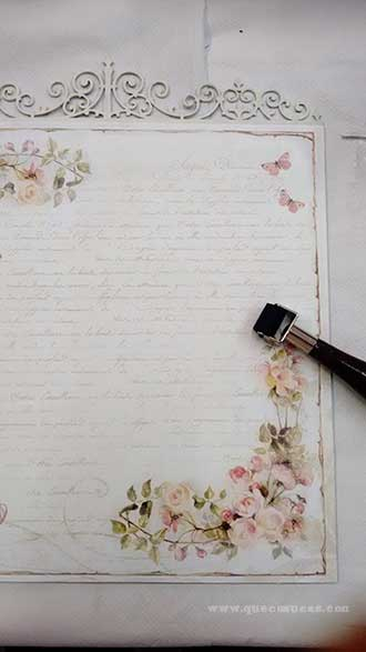 papel decorado cuadro