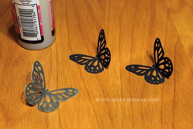 mariposa papel troquelada