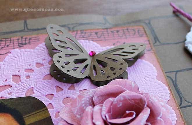 scrap mariposa papel