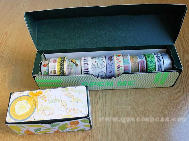 caja guardar washi tapes
